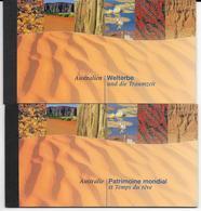 ONU - 1999 - CARNETS DE PRESTIGE Des BUREAUX VIENNE Et GENEVE - PATRIMOINE MONDIAL : AUSTRALIA - COTE YVERT = 80 EUR. - Emissions Communes New York/Genève/Vienne