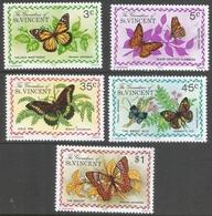 Grenadines Of St Vincent. 1975 Butterflies. MH Complete Set SG 61-65 - St.Vincent & Grenadines