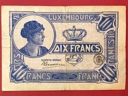 Luxembourg 10 Francs 1923 - Lussemburgo