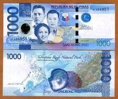 PHILIPPINES 1000 PISO (P211d) 2017 LARGE DATE UNC - Filippijnen