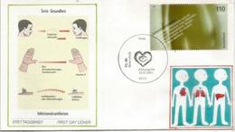 Lutte Contre Les Maladies Infectieuses, Lettre FDC D'Allemagne - Medicina