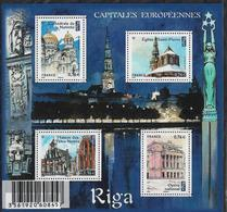 2015 FRANKREICH Mi:Bl 286**MNH : Hauptstädte Europas - Riga. - Blocks & Kleinbögen