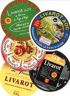Étiquettes De Fromage (Lot De 5) : LIVAROT Calvados, Pays D'Auge, Normandie - Cheese