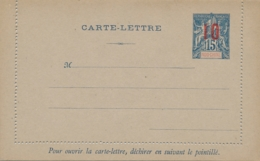 Indo Chine - 1912 - 10 Overprint On 15c Carte Lettre, H&G 10 Unused - Indochine (1889-1945)
