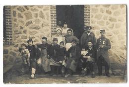 CARTE PHOTO LA COURTINE MILITAIRES ET LA CANTINIERE 1908 CPA 2 SCANS - Reggimenti