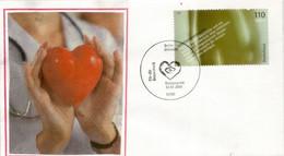 Lutte Contre Les Maladies Cardio-vasculaires, Lettre FDC D'Allemagne - Medicina