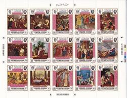 Yemen  Das Leben Christie - The Live Of Christ.  ** Kleinbogen 1664-1969 - Papes