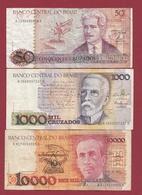 Brésil   3 Billets Dans L 'état Lot N °2  (95) - Brazil
