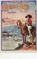 Chemin De Fer D'Orleans  -  Croisic-Batz  -  Plage Valentin  - Publicité  - Carte Postale Promo - Autres