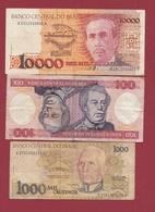 Brésil   3 Billets Dans L 'état Lot N °3  (96) - Brésil