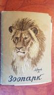 12 Postcards - Zoo - Old Soviet Set By Laptev 1956  - Polar Bear - Donkey - Zebra - Tiger - Elephant - Cebras