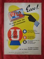 "Locandina Pubblicitaria Lametta Da Barba ""Lama U"" - Illustratore R. Galli - Pappschilder"