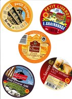 Étiquettes De Fromage (Lot De 5) :  PETIT LIVAROT Calvados, E.Graindorge Normandie - Cheese