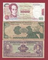 Venezuela  3 Billets Dans L 'état Lot N °7  (105) - Venezuela