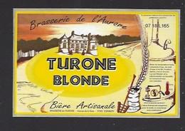 Etiquette De  Bière Blonde  -  Turone   -  Brasserie De L'Aurore à Cormery  (37) - Bier