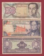 Venezuela  3 Billets Dans L 'état Lot N °10  (108) - Venezuela