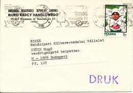 Poland Cover Sent To Hungary 17-12-1985 Single Franked - Covers & Documents