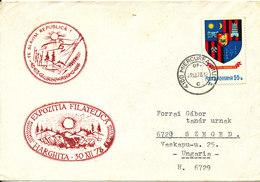 Romania Cover Sent To Hungary 29-12-1978 Single Franked (Philatelic Exhibition Harghita 30-12-1978) - Cartas