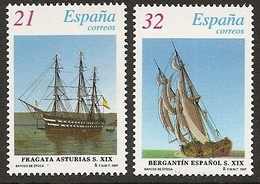 1997-ED. 3475a76- CORTADO DE H.B.-BARCOS DE ÉPOCA. FRAGATA ASTURIAS Y BERGATÍN DEL SIGLO XIX-NUEVO - 1991-00 Unused Stamps