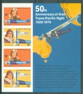 Australia: 1978   Australian Aviators M/S  MNH - 1966-79 Elizabeth II