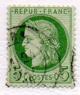 Cérès  5c Vert Y Et T N°53 - 1871-1875 Cérès