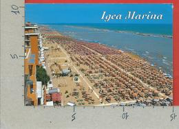 CARTOLINA VG ITALIA - IGEA MARINA (RN) - La Spiaggia - 10 X 15 - 2001 DONNE ARTE DOPPIA VALUTA - Rimini