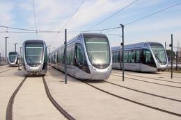 Beauzelle (31 - France)  Tramway De Toulouse - Septembre 2010 – Rames Alstom Citadis 302 Au Dépôt De Garossos - Tramways