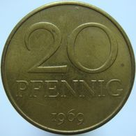East Germany 20 Pfennig 1969 UNC - [ 6] 1949-1990 : RDA - Rep. Dem. Alemana