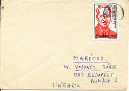Romania Cover Sent To Hungaria 27-12-1996 Single Franked (1996 Stamp But Postmark Is 27-12-1986) - Covers & Documents