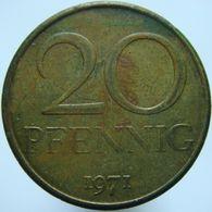 East Germany 20 Pfennig 1971 XF / UNC - [ 6] 1949-1990 : RDA - Rep. Dem. Alemana