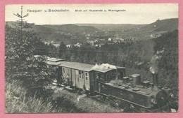 Allemagne - BROCKENBAHN - Locomotive - Zug - Blick Auf HASSERODE Und WERNIGERODE - Allemagne