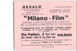 12347 BIGLIETTO MILANO FILM RIPRESE CINEMATOGRAFICHE A PRIVATI - Toegangskaarten