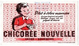 Buvard Chicorée Nouvelle Casiez-Bourgeois. Tampon épicerie Desormeau à Dôle-Bedugue. - Café & Thé