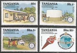 Tanzania. 1980 75th Anniv Of Rotary International. MNH Complete Set. SG 278-281 - Tanzania (1964-...)