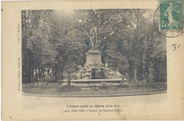 FRANCE. OLD POSTCARD. COLMAR. STATUE ADMIRAL BRUAT. 1916 - Francia