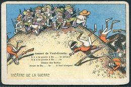 Boer War, Theatre De La Guerre, Assaut De Vaal-Krantz, Cartoon Satirical Postcard - Other Wars