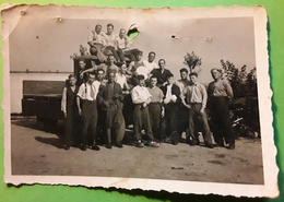 RARE Photo Originale Guerre 1939 - 1945 Prisonniers STALAG XI B Fallingbostel,Niedersachsen Allemagne,Mercier Roger.1943 - Guerre, Militaire