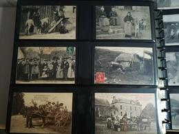 SUPERBE ALBUM DE 432 CPA SUPERBE ANIMATIONS - GARE - FOIRE - MARCHE - VIEUX METIERS - VILLAGE - ETC - TOP SELECTION - 100 - 499 Cartes