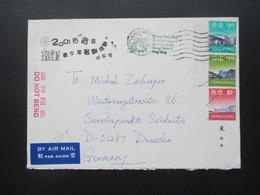 Hong Kong Um 2000 Air Mail / Luftpost Nach Dresden - 1997-... Chinese Admnistrative Region