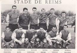 STADE DE REIMS - MARNE - (51) - PHOTO DÉDICACÉE DES ANNÉES 1961-1963. - Football