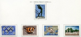 Grèce - Griechenland - Greece 1967 Y&T N°921 à 925 - Michel N°943 à 947 (o) - Athlétisme - Grèce