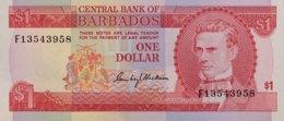 Barbados 1 Dollar, P-29 (1973) - UNC - Barbados (Barbuda)