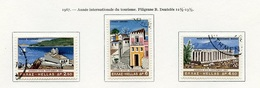 Grèce - Griechenland - Greece 1967 Y&T N°933 à 935 - Michel N°955 à 957 (o) - Année Du Tourisme - Grèce