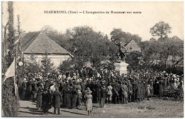 27 BEAUMESNIL - L'inauguration Du Monument Aux Morts - Otros Municipios