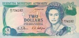 Bermuda 2 Dollars, P-34b (1.8.1989) - UNC - Bermudas
