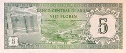 Aruba 5 Florin, P-1 (1.1.1986) - UNC - Aruba (1986-...)