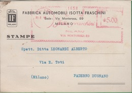 ISOTTA FRASCHINI. Auto Timbro Rosso. Fabbrica Automobili. Macchina. 156b - Italie