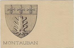 82 Montauban Carte Postale Blason Armoirie De La Cite - Montauban