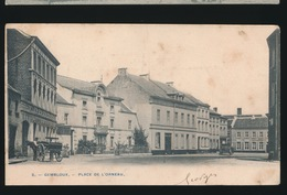 GEMBLOUX  PLACE DE L'ORNEAU  !!!!! STUK ONDERAAN KAART AFGESNEDEN - Gembloux