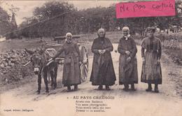 """23-Au PAYS CREUSOIS - """"Arreto-vite Batistou......"""" Editeur LUQUET,Bellegarde-ATTELAGE D'ANE-écrite 24/09/1925 - Francia"""